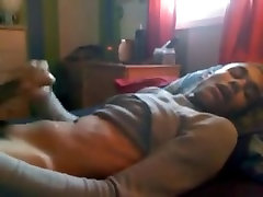 Hot black twink boyfriend jerks off and cums