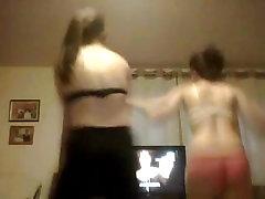 18 teen sisters sexy dance on webcam