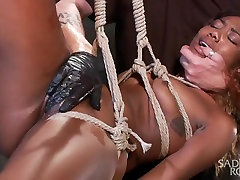 Sexy Ebony Slut Begs to be Taken to the Edge.