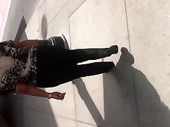 Big booty gilf in black dress pants