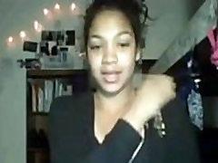 Black Girl Teases you on Her Webcam in her Dorm - DiamondGirlCams.com