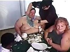 Weird Birthday Sex Party With Midget