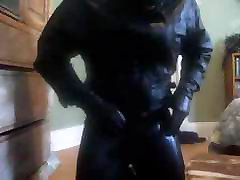 Leather Gimp Licks Cum Off a Boot