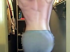 Sexy ass Ginger jerking and stripping. FUCKING HOT!!