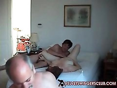 Velvet Swingers Club couple and friend Homemade treesome vid