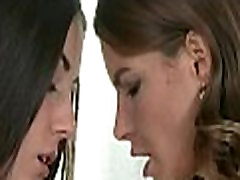Amorous outdoor lesbo play