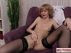 Redhead mature sex and orgasm