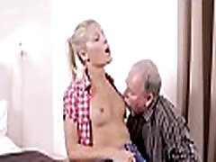 Crazy old dude bonks young girl