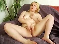 Slutty Chubby BBW Blonde Teen GF fucked in the ass