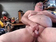 Daddy Bear jerking off.