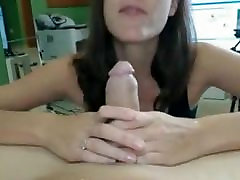 Fucking hot brunette pussy liked deep throating big cock