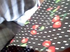Upskirt in the bus! NO PANTIES SLUT