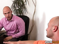 Bald office hunks rawdawg