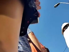Spy upskirt black bikini teens girl romanian