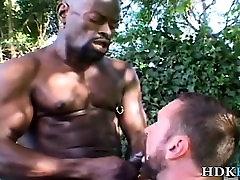 Black masseur facializes