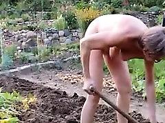 girl mature garden outdoor anal fisting dildo 21