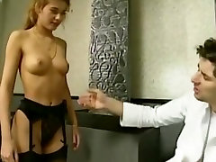 Anal job interview for retro blonde