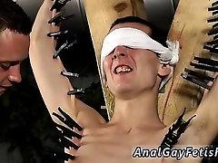 Free gay bondage movieture Skinny Slave Cums Hard!