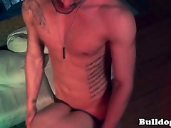 Young deepthroater cumdrops while assfucked
