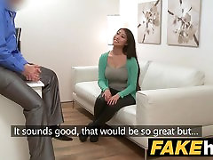 Fake Agent Big boobs Asian wants hard fuck on the couch