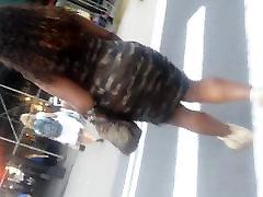 Big Booty Jiggle And Wiggle Walk Army Tight Dress