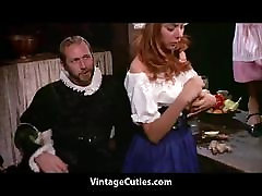 Medieval Feast Turns into an Orgy 1960s Vintage