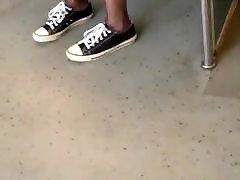 Public Voyeur Pantyhose in Train