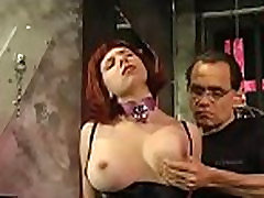 Busty hottie in brutal bdsm act