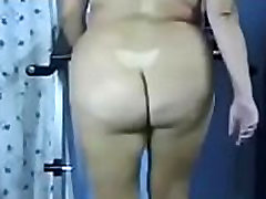 butt bbw naked fat ass treadmill workaut