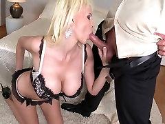 Exotic pornstar Sandra Star in best blonde, mature adult clip