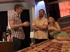Horny pornstar Janet Mason in hottest threesomes, mature adult movie