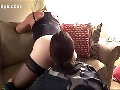 Exotic Homemade Shemale clip with Stockings, Blonde scenes