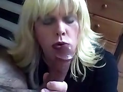 Horny Homemade Shemale clip with Blonde, Blowjob scenes