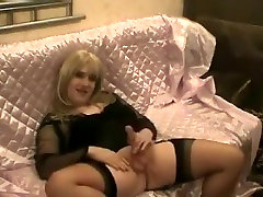 Fabulous homemade shemale clip with Mature, Stockings scenes