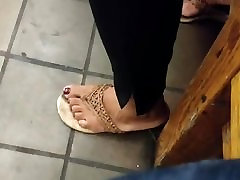 Candid ebony feet she was nodding