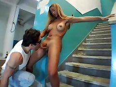 Horny Homemade Shemale video with Blonde, Big Tits scenes