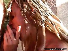 I am Pierced heavy piercings in pussy Slave BDSM action