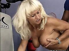 Nasty blonde mature slut goes crazy part3