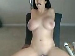 Intense Solo Orgasm With Busty Brunette Babe
