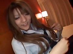 Horny Japanese slut Risa Tsukino in Hottest Handjobs JAV scene