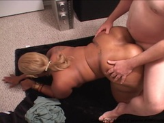 Mature Big Booty Big Tit Ebony MILF Gets Ass Fucked