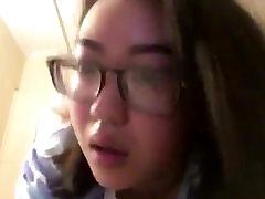 My Asian teen gf 20yo eye rolling