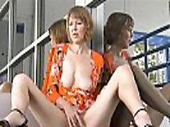 hot mature mom in public