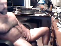 Fat & Hairy gay cum in office. More on gayclip.webcam