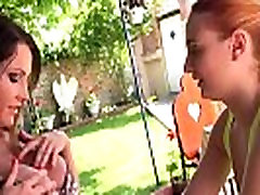 Redhead lesbian babe licking out her busty mom