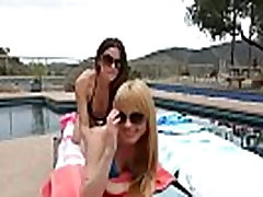 Lovely Lez Girls Jayme Langford &amp Vanessa Veracruz Playing In Hot Sex Scene vid-07