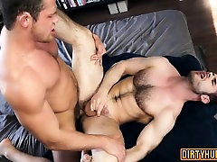 Muscle wolf anal sex with swallow