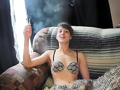 Teen smokes and plays