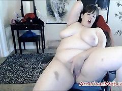 BBW Slut Enjoys Fingering Her Fat Hairy Cunt