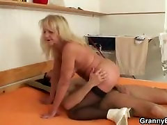 Granny riding my horny cock